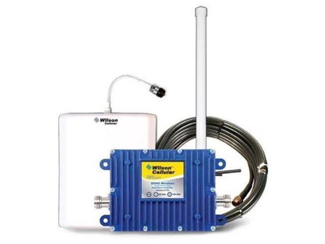 Wilson 801245 complete SOHO dual band Cell Phone Booster kit, LMR400 Cable, 5 Db Omni-directional exterior antenna