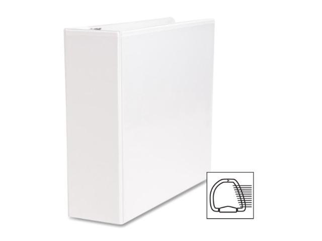 Business Source BSN28443 D-Ring Binder- w- Pockets- 3in. Capacity- White