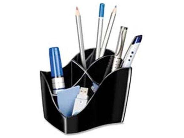 CEP CEP3400101 Desktop Organizer- 4 Compartments- 4-.6in.x3-.50in.x3-.8in.- Black