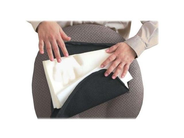 Master Caster Company MAS92061 Lumbar Support Cushion- 12-.50in.x2-.50in.x7-.50in.- Black