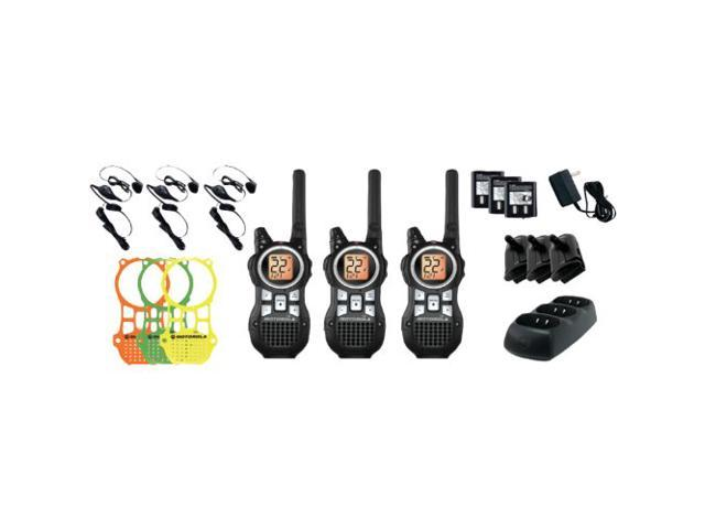 MOTOROLA MR350TPR 35-Mile Talkabout(R) 2-Way Radio Triple Pack with Accessories