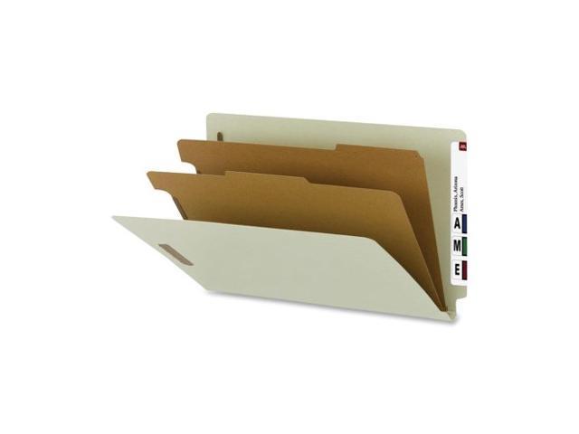 Classificatn Folders Lgl Recycled 2 Div 10/BX GY Green