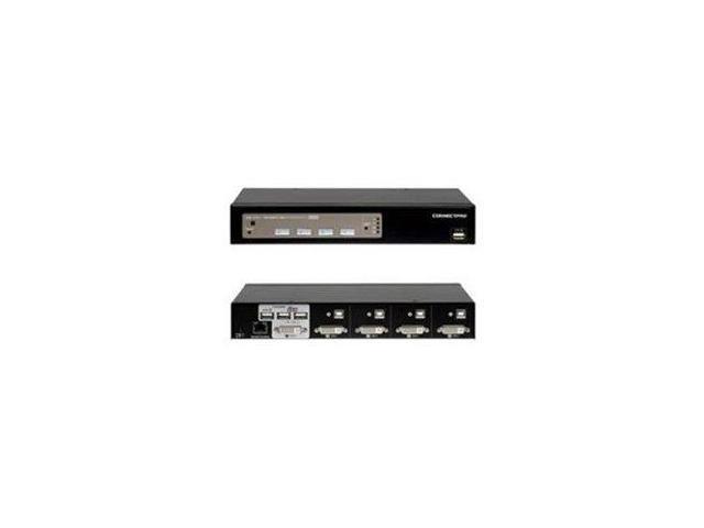 ConnectPRO - 4PORT USB  KVM SWITCH DVI WITH DDM & ACTIVE DDC