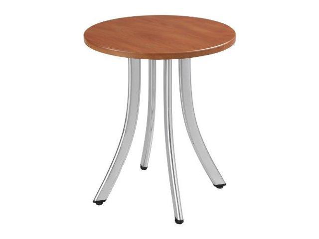 Safco Decori Wood Side Table, Round, 15-3/4