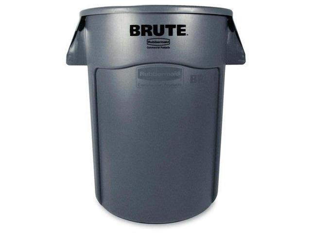 Rubbermaid Commercial 264360 GRAY Vented Round Brute Container