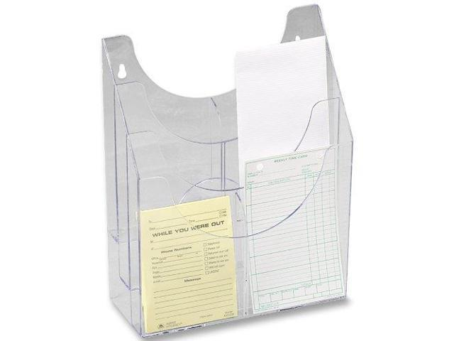 Optimizers Multipurpose Six-Pocket Organizer 9 3/4 x 4 1/4 x 12 Clear