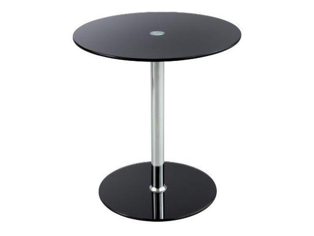 Glass Accent Table - Black in Black by Safco