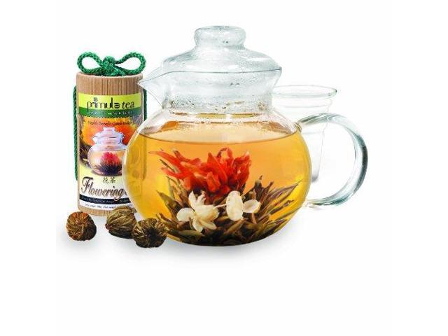 This is a world class varity of flowering teas. Three packs of flowing tea, each containing the following. 2-Acai Berry, 2 Pomegranate, 2 vanilla, and 2 Jasmine Green tea Buds.