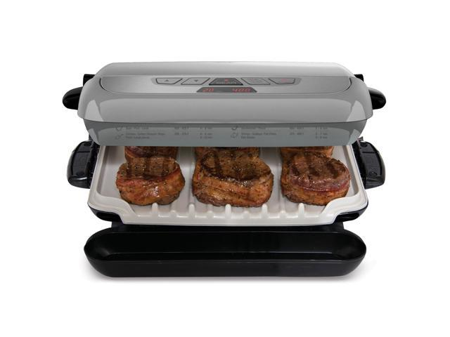 George foreman 5 serving multiplate evolve grill grp4842p for George foreman grill fish