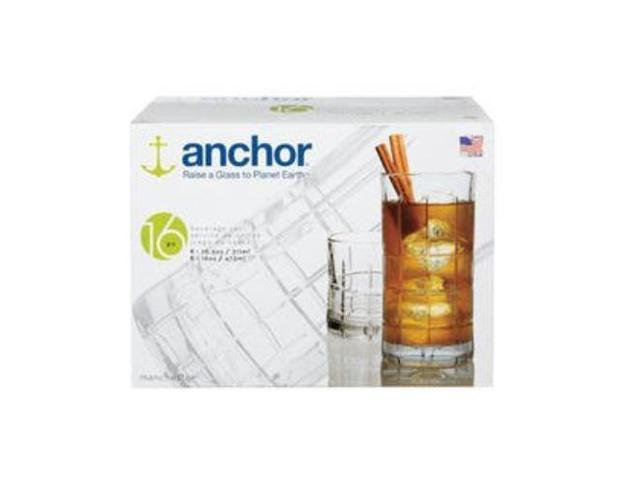 Anchor Hocking Manchester 16-Piece Beverage Set