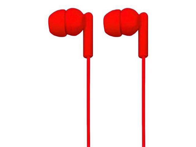NAXA NE-938 RED SPARK Isolation Stereo In-Ear Earbuds (Red)