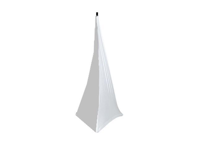 DJ Speaker / Light Stand Scrim, Universal Compatibility & Mountable, for Tripod Stands, 3 Sided (White)
