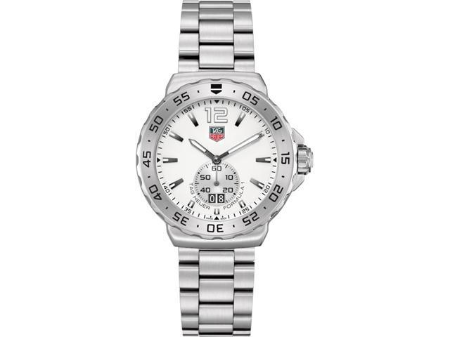 Tag Heuer F1 White Dial Stainless Steel Mens Watch WAU1113BA0858