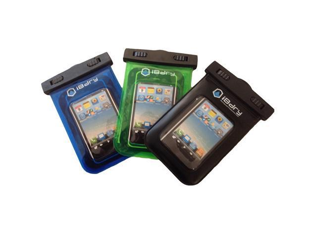 iBdry 3-Set Waterproof iPhone, Blackberry, Droid (and other) Smartphone Case.