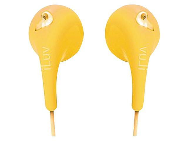 ILUV IEP205YEL BUBBLE GUM II EARPHONES (YELLOW)
