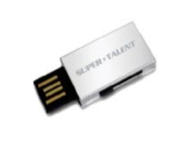 Super Talent Pico-B 4 GB Retractable USB 2.0 Flash Drive STU4GPBS