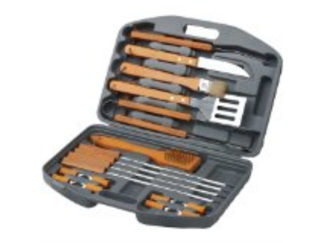 New - CHEFS BASICS SELECT HW5231 18-PIECE BBQ SET IN BLOW MOULD CASE - HW5231