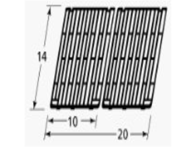 Music City Metals 61102 Gloss Cast Iron Cooking Grid Replacement for Select Gas Grill Models by Amberlight, Arkla and Others, ...