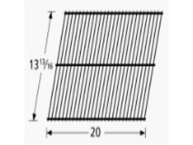 Music City Metals 50601 Porcelain Steel Wire Cooking Grid Replacement for Select Amberlight and Broilmaster Gas Grill Models