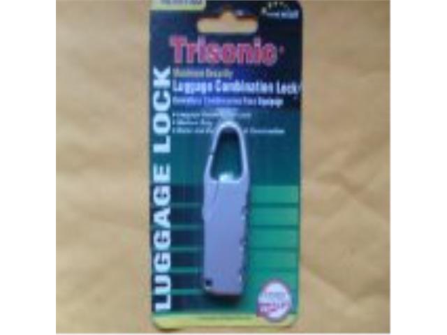TRISONIC 3 Digit Brass and Steel Combination Luggage Lock Travel Padlock 2 PCS.