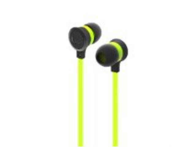 iLuv IEP334GRNN Neon Sound High-Performance Earphones, Green