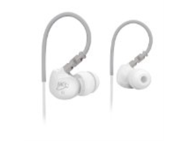 MEElectronics White 736211201164 Earbud M6 noise isolating sports earphone