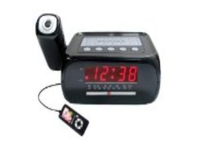 supersonic sc 371 digital projection alarm clock with am fm radio. Black Bedroom Furniture Sets. Home Design Ideas