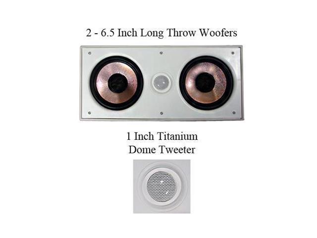 "Pyle Pro PDIWCS62 6.5"" 360 Watt In-Wall Center Speaker"