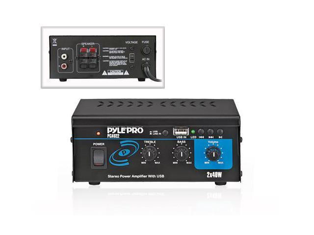New PYLE PRO PCAU22 Mini 80 Watt Stereo Power Amplifier