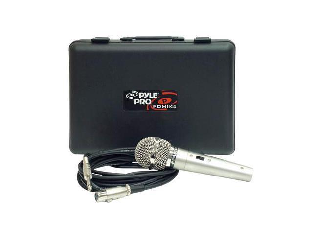 New PYLE PRO PDMIK4 Dynamic Audio Microphone w/Case NR