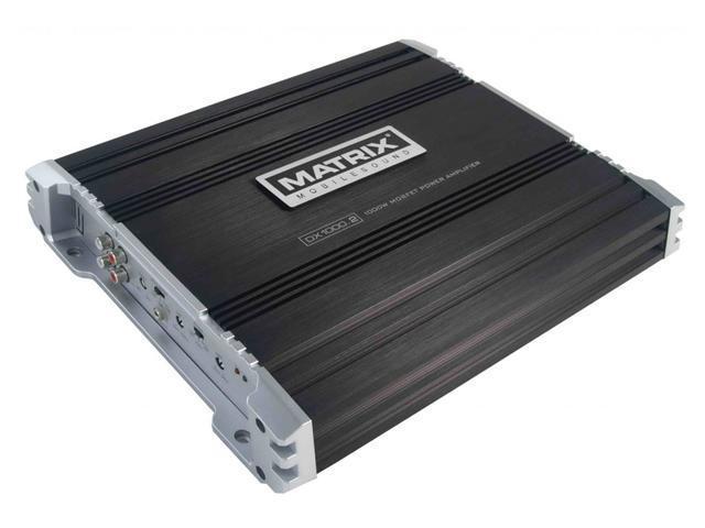 Matrix DX1000.2 1000 Watt 2-Channel Amp MOSFET Car Stereo Amplifier +Remote Bass