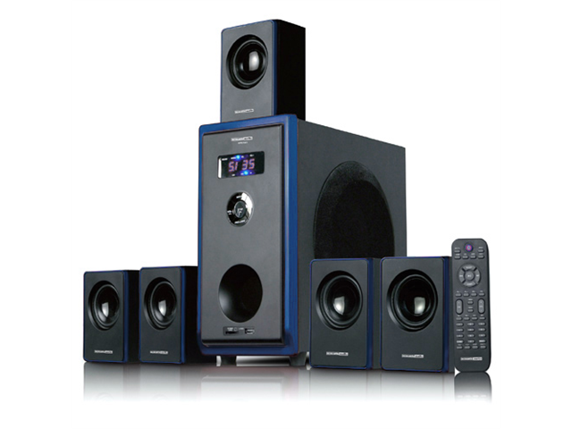 Acoustic Audio AA5102 Home Theater 5.1 Channel Surround Sound Speaker System 800 Watts