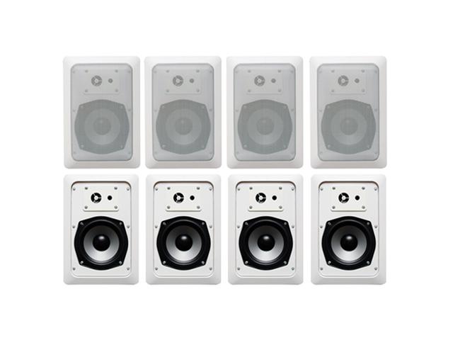 Acoustic Audio CS-IW520 In Wall Speaker 4 Pair Pack 2 Way Home Theater 1600 Watt CS-IW520-4PR