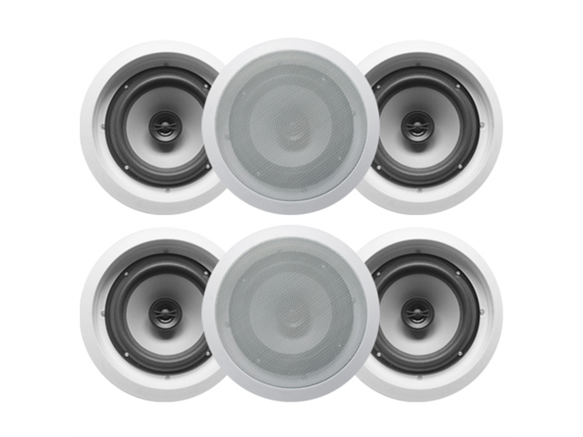 "Acoustic Audio CS-IC62 In Ceiling 6.5"" Speaker 3 Pair Pack 2 Way Home 1500W CS-IC62-3Pr"