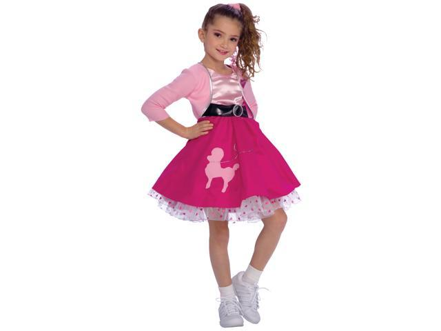 Child Fifties Girl Costume Rubies 883050