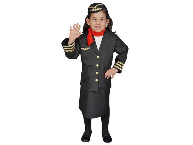 Girls Flight Attendant Costume