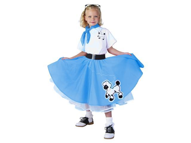deluxe blue poodle skirt costume newegg