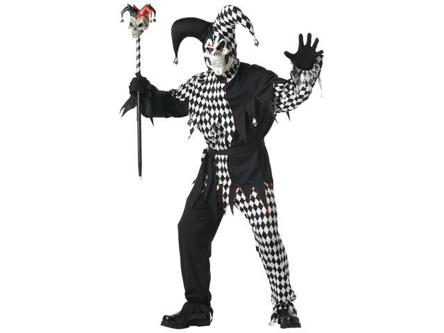 Adult Black Evil Jester Costume California Costumes 928