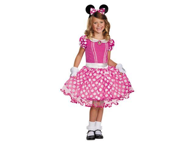 Mickey Mouse Clubhouse Disney Pink Minnie Tutu Prestige Child Costume 3T-4T