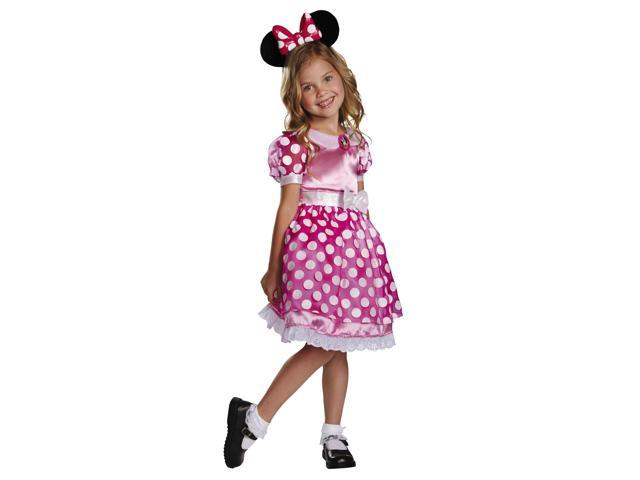 Mickey Mouse Clubhouse Disney LightUp Minnie Child Toddler Costume 3T-4T