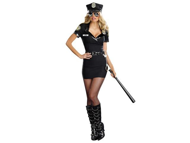 Dirty Cop Officer Anita Bribe Costume Dress Adult Large