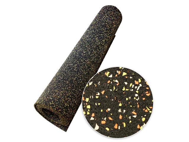 Rubber-Cal Elephant Bark Recycled Rubber Flooring Rolls - 5 mm Thick - Candy Corn