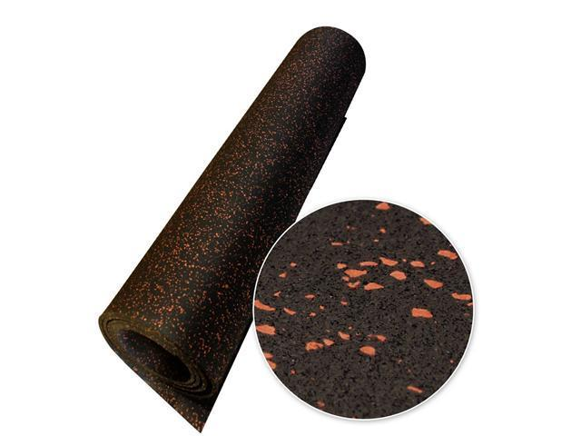 Rubber-Cal Elephant Bark Recycled Rubber Flooring Rolls - 5 mm Thick - Red Dot