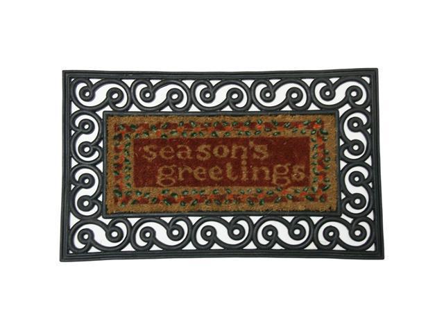 Season's Greetings Outdoor Rubber Doormat - 18