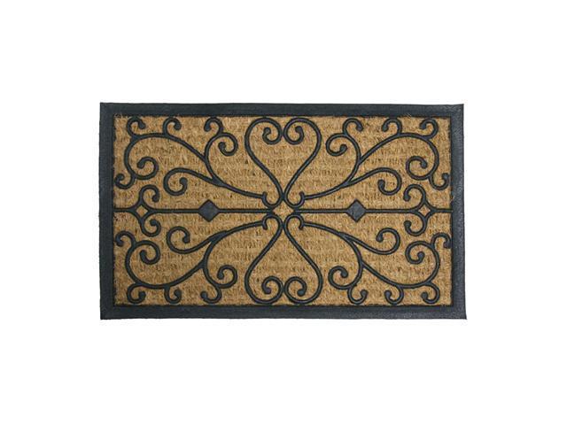 """Harmony Outdoor Coco Door Mat - 18"""" x 30"""" Decorative Rubber Doormat - OEM"""
