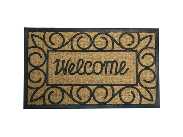"Welcome Home Again Outdoor Coco Rubber Door Mat - 18"" x 30"" Welcome Door Mat - OEM"