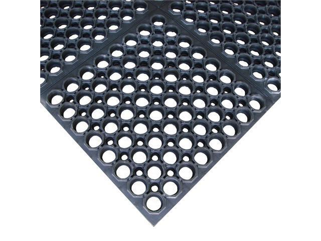 Rubber-Cal Dura-Chef Sr. Rubber Anti-Fatigue Kitchen Mat - 7/8 inch Thick x 38.5 inch x 58.5 inch