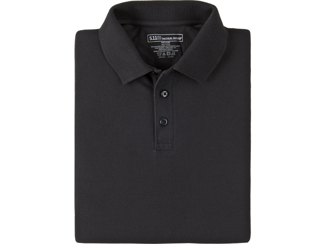 5.11 41180 5-41180019L Black Poly Cotton SS Utility Polo Shirt Large Reg