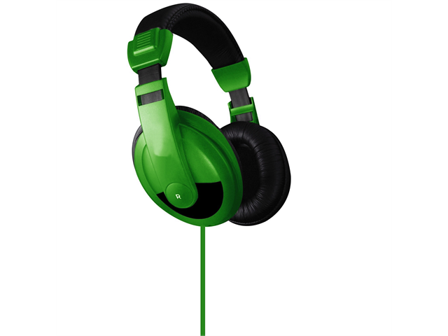 Vibe Sound DJ Style Stereo Over Ear Headphones All Devices with 3.5mm Green