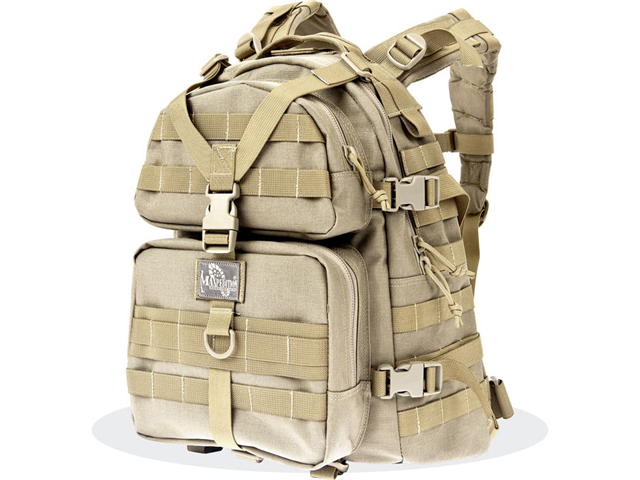 Maxpedition Khaki Condor II Nylon Tactical Backpack 0512K